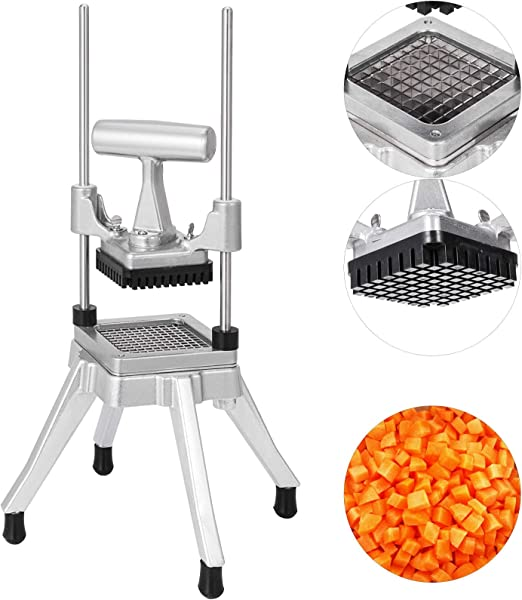 Happybuy Commercial Vegetable Fruit Dicer 0 38 Inches Blade Commercial Easy Chopper Dicer Kattex Chopper Stainless Steel For Onion Tomato Peppers Potatoes Mushrooms