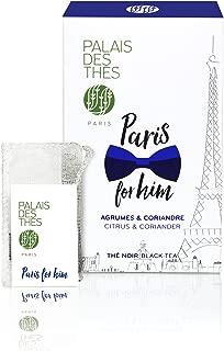 Palais des Thés Paris for Him, Black Tea with Citrus and Coriander, 20 Tea Bags (40g/1.4oz)