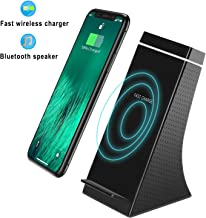 TKOOFN Fast Wireless Charger with Bluetooth Speaker,10W Fast Charging,Compatible with iPhone Xs, XS Max, XR, X, 8, 8Plus,Samsung Galaxy S9,S9+,S8,S8+,Note 9,8 and All Qi-Enabled Devices