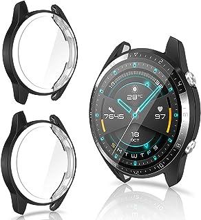 CAVN Protector de Pantalla Compatible con Huawei Watch GT2 46mm, 2 Unidades, TPU Suave Resistente a los arañazos, a Prueba...