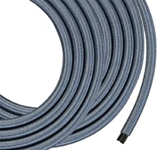 Monolith Speaker Wire - 25 Feet - Silver - 12AWG with Braided Nylon Sleeve, Oxygen Free Copper, Multi-Strand Conductors, PE Insulated