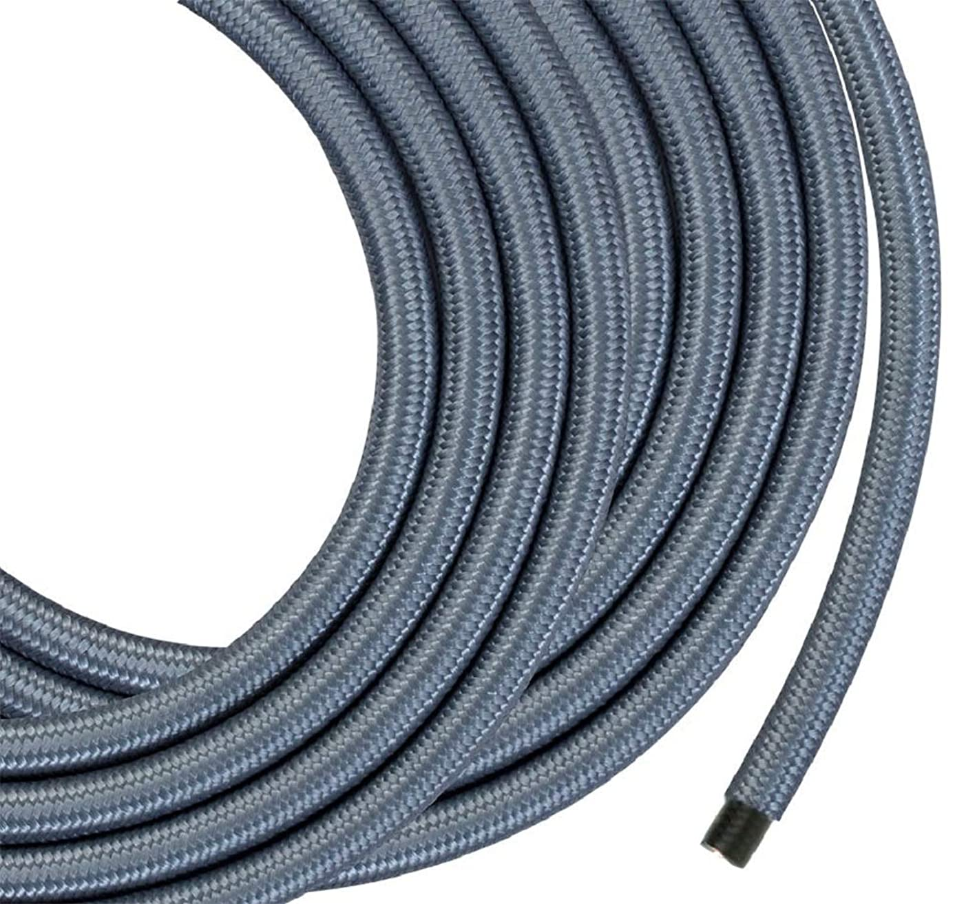 Monolith Speaker Wire - 50 Feet - Silver - 12AWG with Braided Nylon Sleeve, Oxygen Free Copper, Multi-Strand Conductors, PE Insulated
