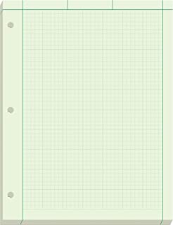 Ampad Engineer Pad, 5 Squares per Inch, 8.5