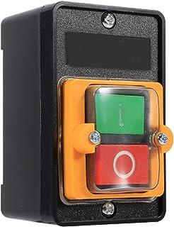 Interruptor monofásico de 10A 380 V, encendido/apagado, parada de arranque, bloqueo automático, interruptor de botón a prueba de agua, accesorios de máquina herramienta