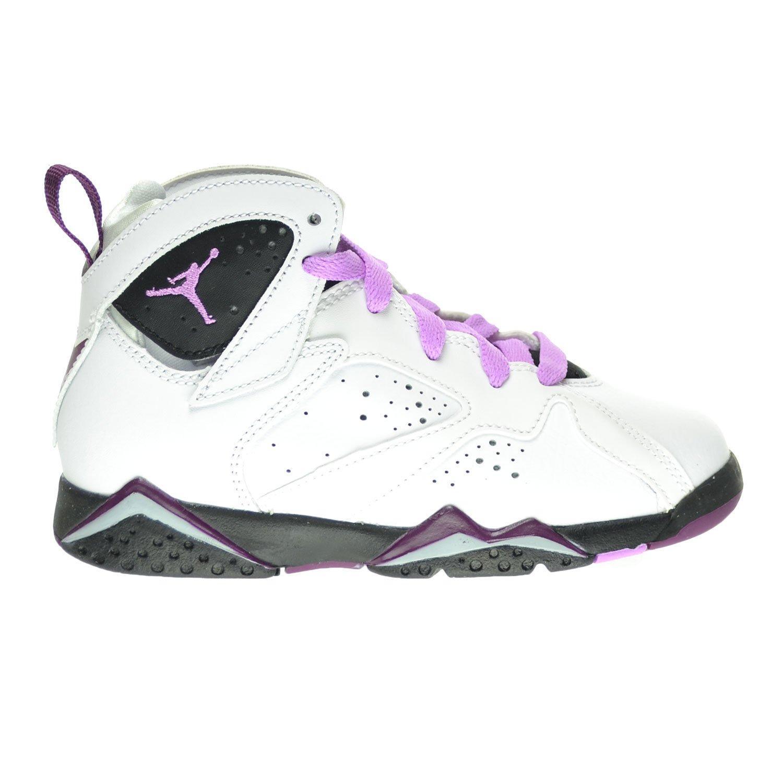 [ジョーダン] 7レトロGP Little Kid 's Shoes White/Fuchsia Glow/Black/Mulberry 442961?–?127