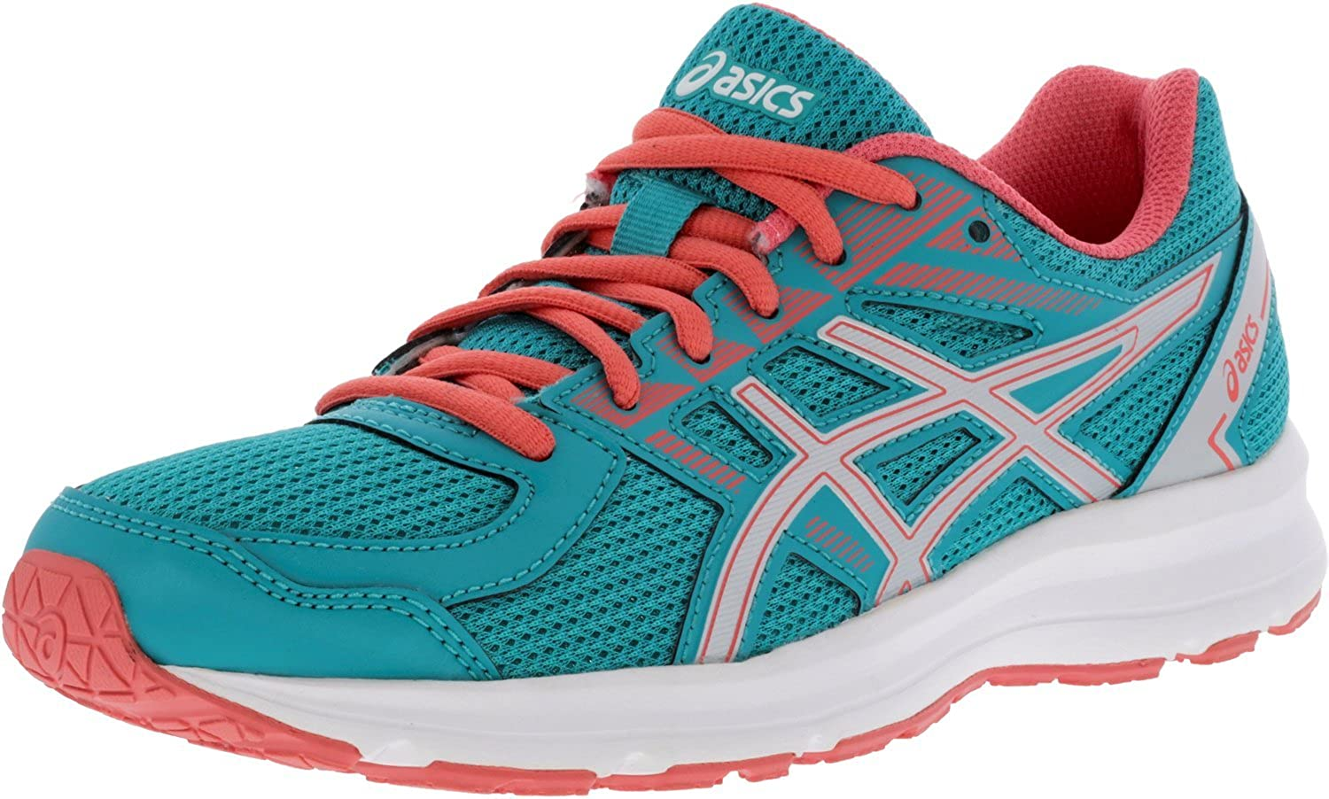 ASICS donna Jolt correrening sautope Fabric Low, Veridian verde argento Peach, Dimensione 8.5