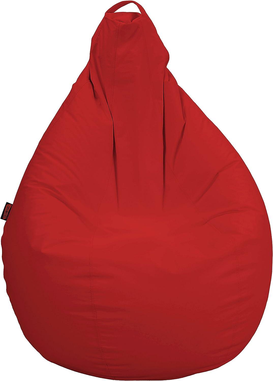 nueva gama alta exclusiva Loconfort Puff de pera Niños Polipiel Polipiel Polipiel Rojo (75x75x120)  para mayoristas