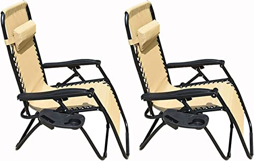 discount labworkauto Patio Lounge Chair Zero Gravity Chair 2 Pack Zero Gravity Recliner Zero Gravity Chairs sale Lounge Patio Chairs Zero Gravity Folding Chaise Lounge Chair with Cup outlet sale Holder Accessory Tray online sale