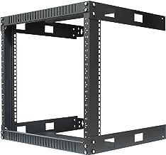 Kenuco 9U Wall Mount Open Frame Steel Network Equipment Rack 17.75 Inch Deep