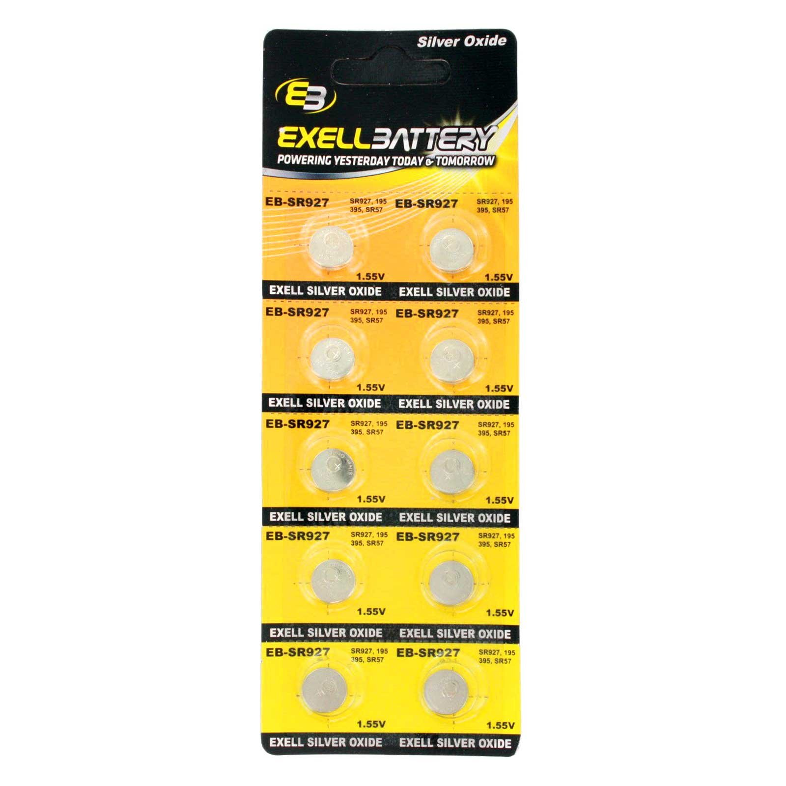 Cheap 10pk Exell EB-SR927 Silver Oxide 1.5V Watch Battery Replaces 395/399 Black Friday & Cyber Monday 2019