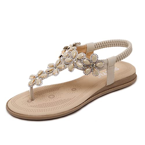 e9861d95 BELLOO Women Summer Low Flat Heel Flip Flop Sandals Clip On Post Thong Boho  Shoes with