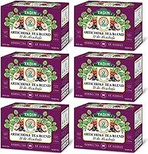 Tadin Natural Herbal Tea Alcachofa / Artichoke. Calming, Soothing & Caffeine Free Blend. 24 Bags. 0.85 Oz - Pack of 6