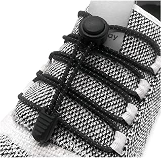 Elastic No Tie Shoelaces - No Tie Laces With Reflective Shoe String for Sneakers, kids and adults