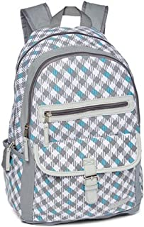 Laura Ashley Girls Hatty Houndstooth Backpack Kid's School, Gray, One Size