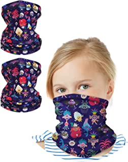 Girls Trolls Gaiter Face Mask with UV Sun Protection (2...
