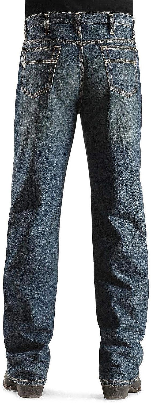 Cinch Men's Jeans White Label Relaxed Dark Stonewash Denim Seasonal Wrap Introduction Fit Rapid rise D