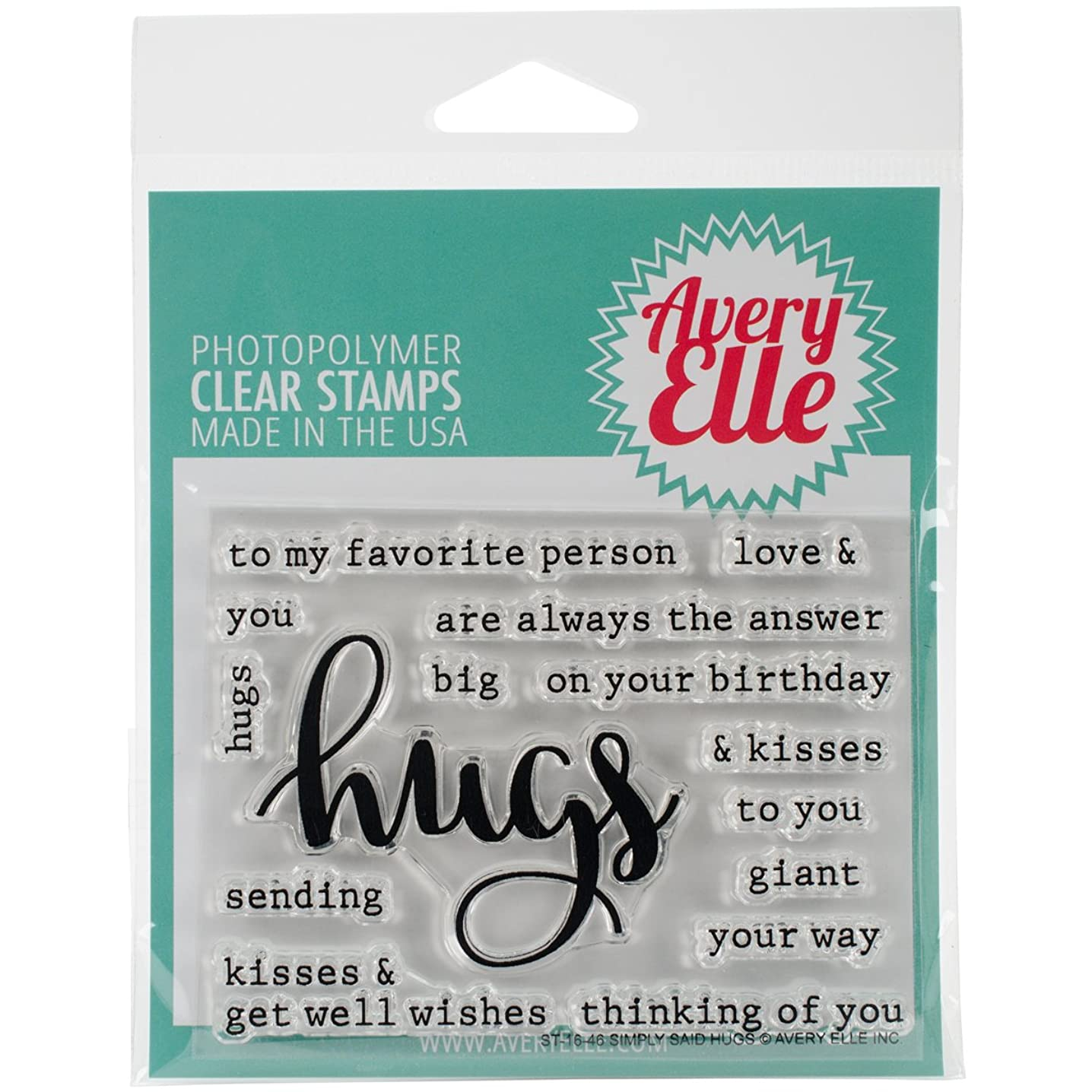 Avery Elle ST-1646 Clear Stamp Set 4
