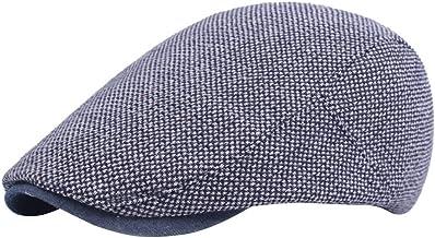 Leisial Boinas de Hombre de Algodón Visera Retro Hat Cap Sombrero de Sol al Aire Libre Primavera Verano para Vejez Unisex