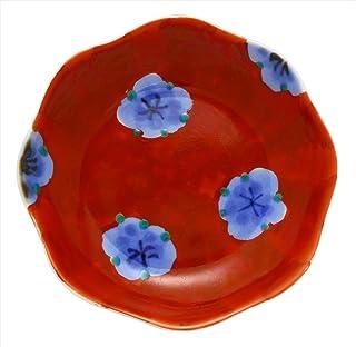 協立陶器 小皿 染錦梅ちらし 8.5cm 波佐見焼 胡窯 輪花豆皿 36467