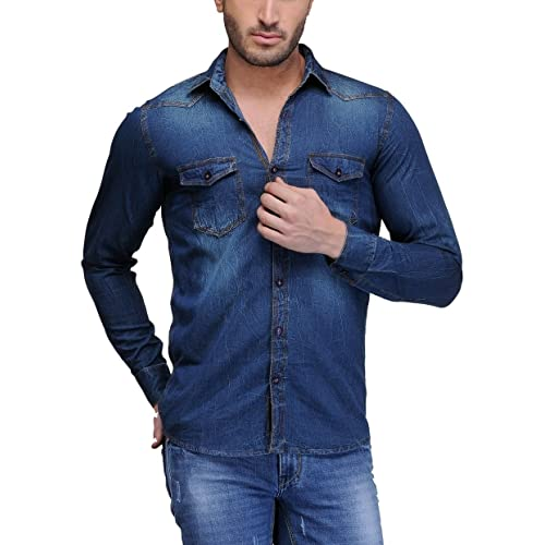 dfdb4fd7098 Men s Jeans Shirts  Buy Men s Jeans Shirts Online at Best Prices in ...