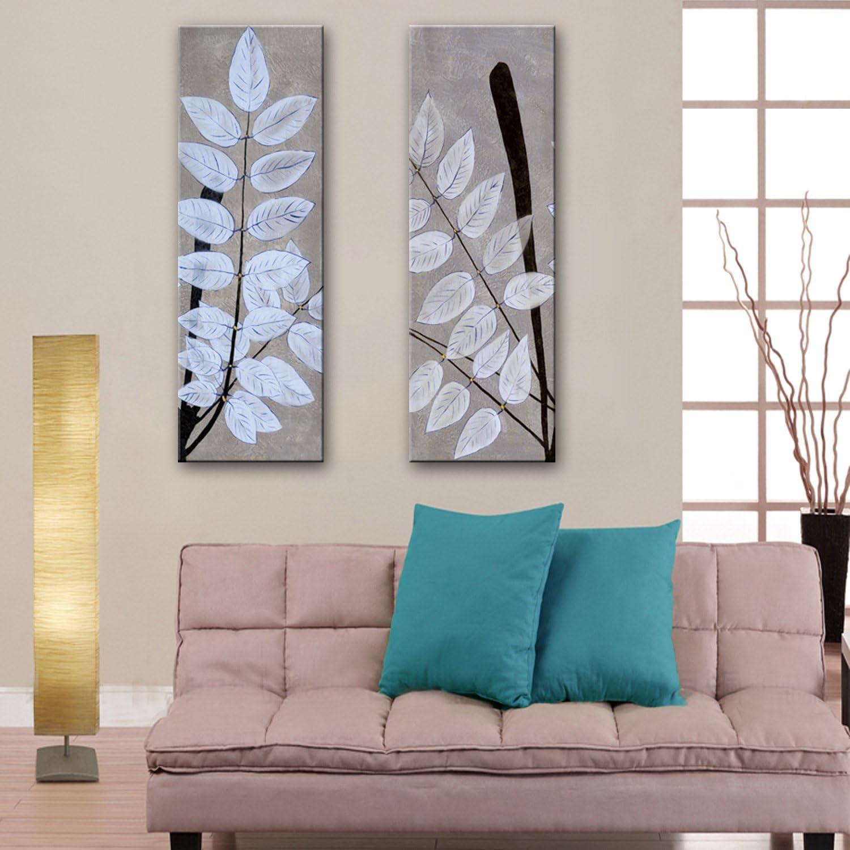 LTQ&QING (weiß Blattdekor, rahmenlose Box Cover, Wohnzimmer Gang Deko Deko Deko Gemälde 30  90  2 B07CSPTNZJ | Realistisch  7d68c7