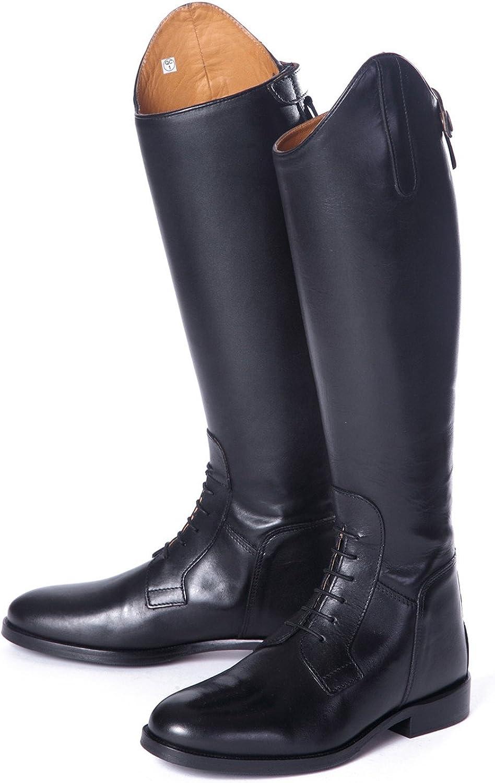 Shires Norfolk Field lang Leder Stiefel Reitstiefel mit Schwarz Geschnürt Regular B00ONO62VA  | Neues Produkt