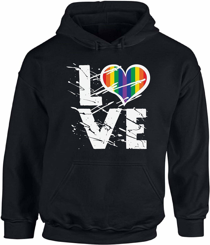 Awkward Styles Unisex Love Hoodie Hooded Sweatshirts Love Rainbow Heart Hoodie Hooded Sweatshirts LGBTQ Pride