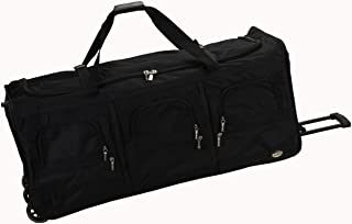 Luggage 40 Inch Rolling Duffle Bag, Black, X-Large