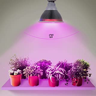 LED Grow Light Bulb Full Spectrum High Effcient LED Growing Bulbs Freal Indoor Garden Plants Lamp for Hydroponic Aquatic and Greenhouse Planting&Flower (50W 78LEDs 120 Degree Wide Area Coverage)