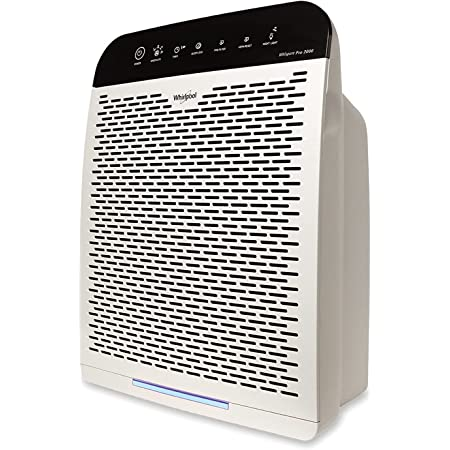 Whirlpool WPPRO2000P Whispure True Hepa Air Purifier, Activated Carbon, 508 Sq Ft, Smart Auto Mode, Ideal for Allergies, Odors, Pet Dander, Mold, Smoke, Wildfire, Germs - Pearl White