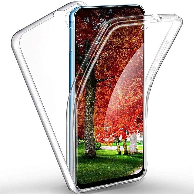 【Funda 360 Grados】 Cubre Todo para Samsung A70 2019 de Silicona Transparente Ultrafina • Protector Pantalla Cobertura Completa Resistente • Carcasa Antigolpes Suave y Robusta de Buen Ajuste