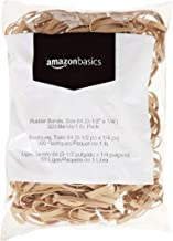 AmazonBasics Rubber Bands, Size 64 (3-1/2 x 1/4 Inch), 320 Bands/1 lb. Pack , 3-Pack