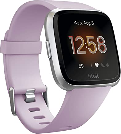 Fitbit Fitbit Versa Lite Smartwatch, Lilac/silver Aluminum, One Size (s & L Bands Included)