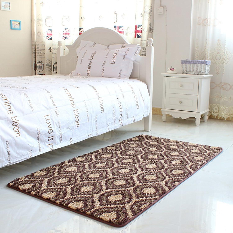 Bedroom Mats Room Bed Blanket Bar,Bedside Mats Non-Slip Water-Absorbing Mats Sliding Door Mats-K 70x140cm(28x55inch)