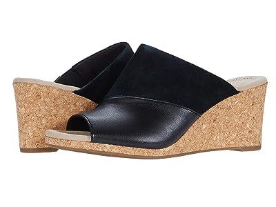 Clarks Lafley Wave (Black Suede/Leather Combi) Women