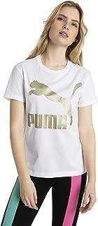 Puma Kadın Classics Logo Tee T-Shirt, Beyaz