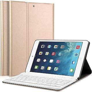 "iPad Mini 1/2/3 Keyboard Case - LUCKYDIY 7.9"" Ultra Slim Shell Stand Cover with Magnetically Detachable Wireless Bluetooth Keyboard for Apple iPad Mini 1 / Mini 2 / Mini 3"