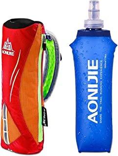 AONIJIE Lovtour Quick Shot Handheld Hydration Pack with 500ml BPA Free Collapsible TPU Water Soft Flask