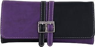 Fristo Purple & Black PU Women's Wallet (FRW-088)