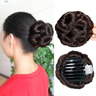 HANNE Hair Chignon Pony Tail Bun Artificial Synthetic Tress Claw In Ponytail Hair Extension Women's Hairpiece (2/33#)
