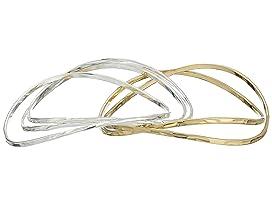 Two-Tone Bangle Bracelet Set