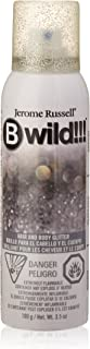 jerome russell B Wild Hair and Body Glitter, Silver, 3.5 Ounce
