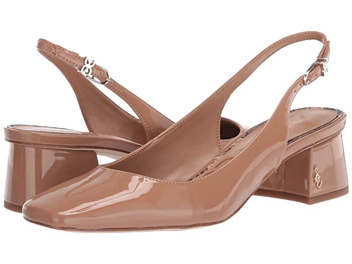 Retro Vintage Style Wide Shoes Sam Edelman Tamra Rosa Nude Patent Womens Shoes $72.00 AT vintagedancer.com