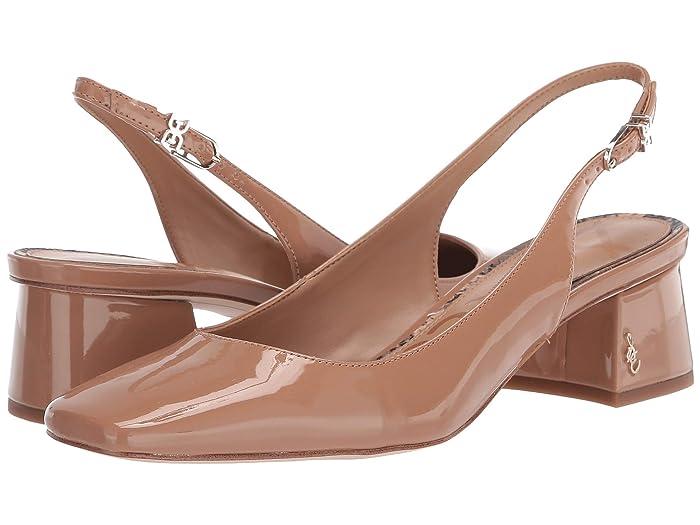 70s Shoes, Platforms, Boots, Heels Sam Edelman Tamra Rosa Nude Patent Womens Shoes $84.99 AT vintagedancer.com