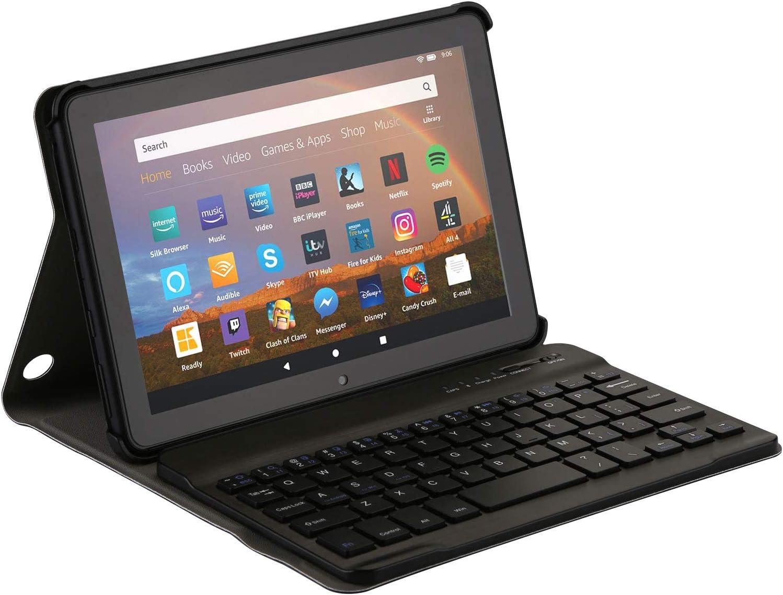 AGPTEK Keyboard Case for All-New Amazon Fire HD 8/8 Plus(10th Generation, 2020 Release),with Detachable Wireless Bluetooth Keyboard