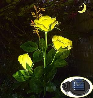 NUOVO 3 x colorato 15 Fiore Rosa Floreale Albero ENERGIA SOLARE GIARDINO ESTERNO LUCI LED