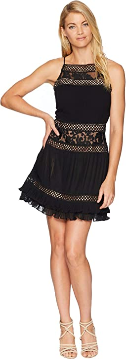 Nia Woven Pleated A-Line Dress