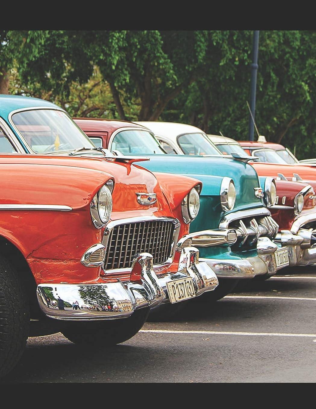 遅れ空中苗1950s Classic Car Rockabilly Sheet Music Paper: Blank Manuscript Paper