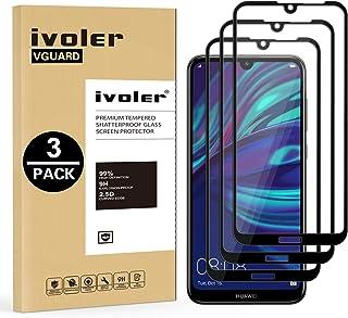 VGUARD [3-pack] Kompatibel med Huawei Y7 2019/Huawei Y7 Prime 2019/Huawei Y7 Pro 2019 skärmskydd, [full täckning] härdat g...
