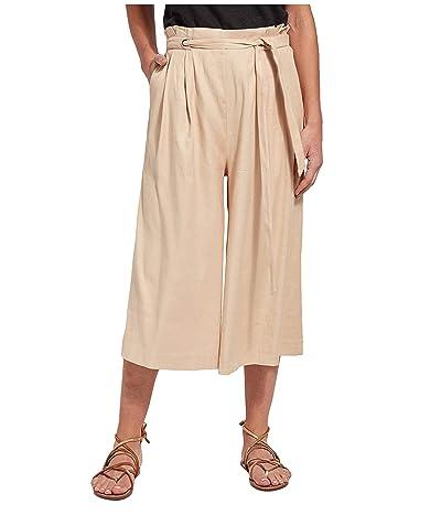 Lysse Kendra Wide Leg Crop Pants in Stretch Woven Linen (Almond) Women